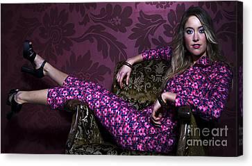 Lady In Pink... Canvas Print by Nina Stavlund