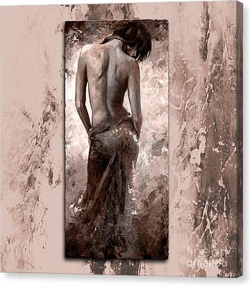 Lady In Red 27 Style Mistyrose Canvas Print by Emerico Imre Toth