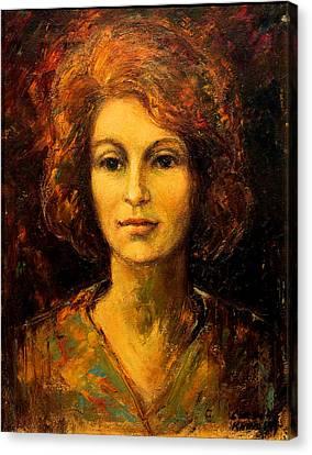 Lady In Red Canvas Print by    Michaelalonzo   Kominsky