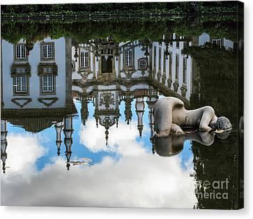 Lady In The Pond Canvas Print by Arlene Carmel