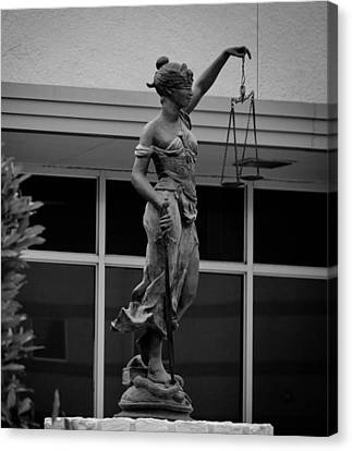 Canvas Print featuring the photograph Lady Justice by Amber Kresge