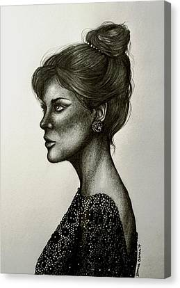 Updo Canvas Print - Lady Lace by Bonnie Leeman