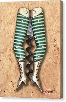 Lady Legs Corkscrew Painting Canvas Print by Jon Neidert