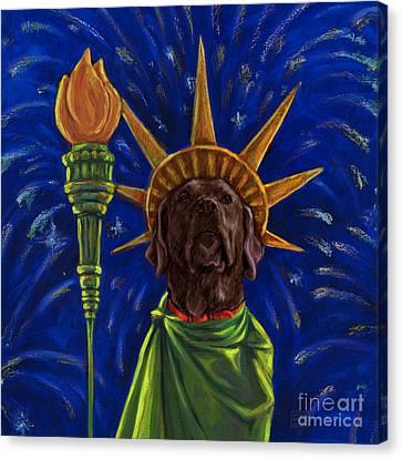 Lady Liberty - Chocolate Canvas Print by Kathleen Harte Gilsenan