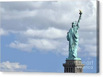 Lady Liberty   1 Canvas Print by Allen Beatty