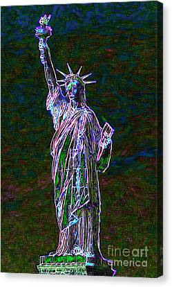 Lady Liberty 20130115 Canvas Print by Wingsdomain Art and Photography