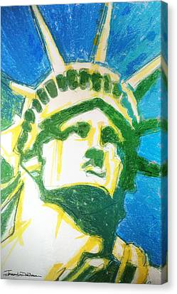 Lady Liberty Canvas Print by Jerrett Dornbusch