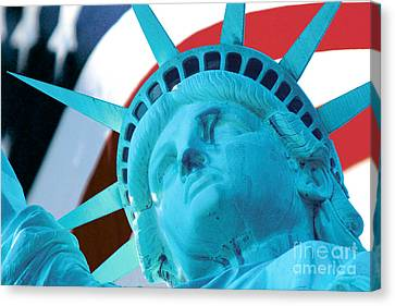 Canvas Print featuring the photograph Lady Liberty  by Jerry Fornarotto