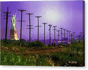Lady Liberty Lost Canvas Print