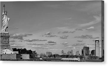 Lady Liberty Watching Over New York City Canvas Print