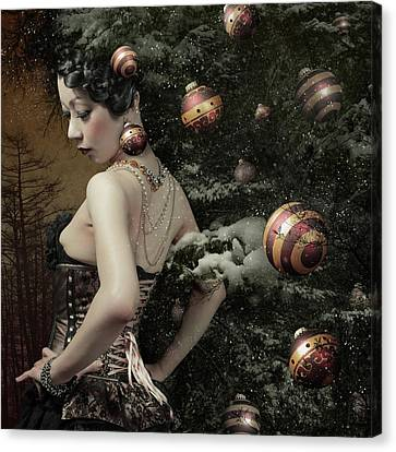 Lady Of December\'s Tree Canvas Print by Kiyo Murakami