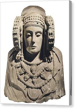 Lady Of Elche. 5th C. Bc. Iberian Art Canvas Print by Everett