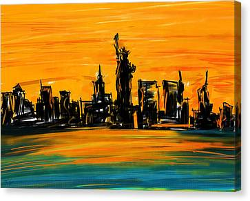 Lady Of New York Canvas Print by Lourry Legarde