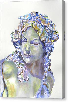 Canvas Print featuring the painting Lady Of Stone by Mary Haley-Rocks
