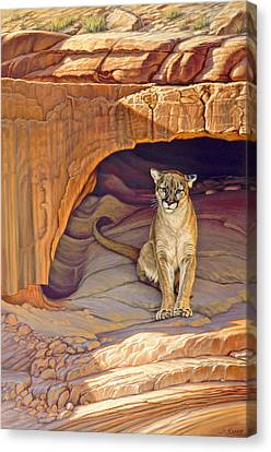 Lady Of The Canyon Canvas Print by Paul Krapf