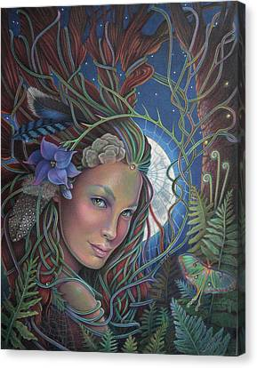 Lady Of The Forest Canvas Print by Susan Helen Strok