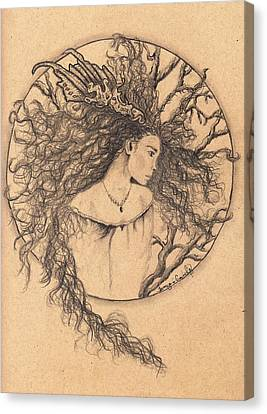 Lady Of The Forest Canvas Print