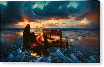 Lady Of The Ocean Canvas Print by Georgiana Romanovna
