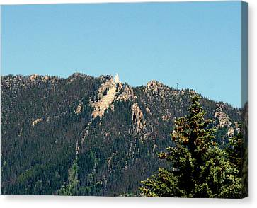 Lady Of The Rockies Butte Montana Canvas Print by Larry Stolle