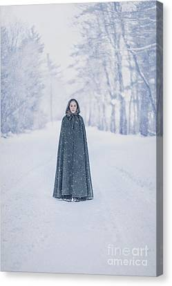 Medieval Canvas Print - Lady Of The Winter Forest by Evelina Kremsdorf