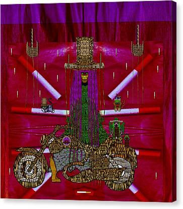 Lady Pandas Mc Shopper Club Canvas Print by Pepita Selles