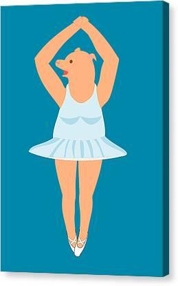 Lady Pig In A Tutu Canvas Print