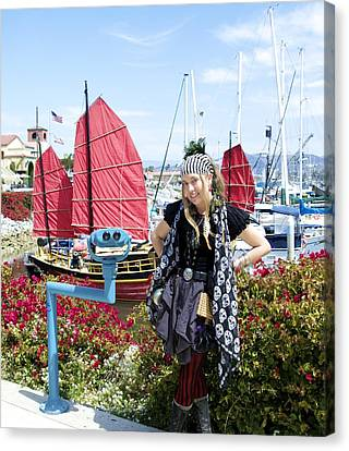 Lady Pirate And Friend Canvas Print by Floyd Snyder