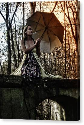 Lady Rain Canvas Print