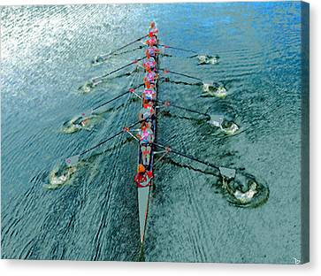 Lady Scullers Canvas Print