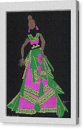 Lady Singer Canvas Print by Ruth Yvonne Ash