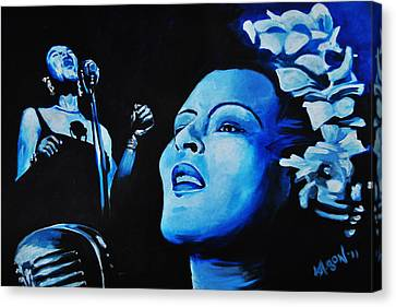 Lady Sings The Blues Canvas Print by Ka-Son Reeves