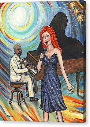 Lady Sings The Blues Canvas Print by Linda Mears