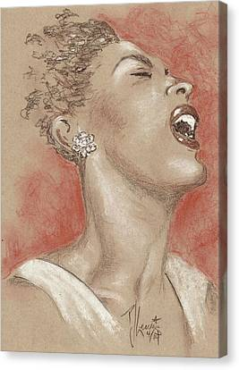 Lady Sings The Blues Canvas Print by P J Lewis
