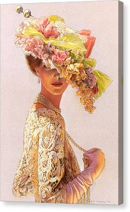 Flower Art Canvas Print - Lady Victoria Victorian Elegance by Sue Halstenberg