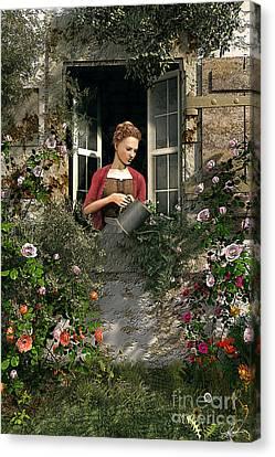 Lady Window Canvas Print