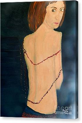 Lady With Beads From Shan Pecks Photograthy  Canvas Print