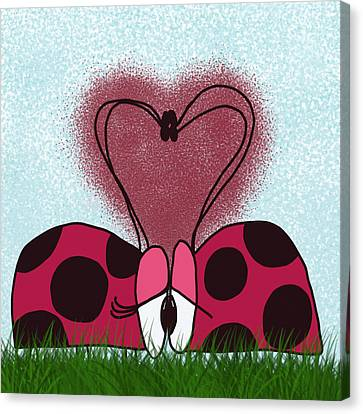 Ladybugs First Encounter Canvas Print