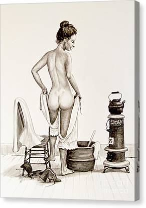 Lady's Bath 1890's Canvas Print
