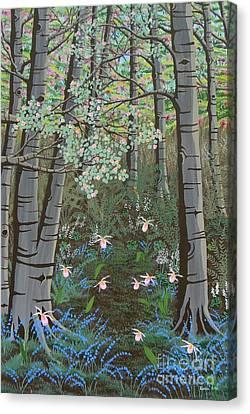 Ladyslippers Canvas Print by Lori Ziemba