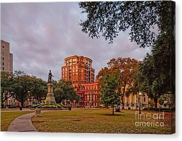 Lafayette Square New Orleans Downtown - Lousiana Canvas Print by Silvio Ligutti