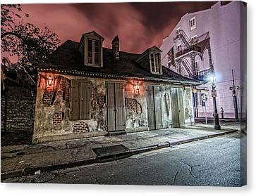 Lafitte's Blacksmith Shop Canvas Print by Andy Crawford
