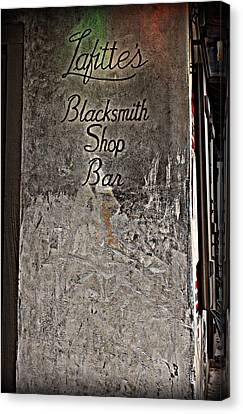 Lafitte's Blacksmith Shop Bar Canvas Print by Beth Vincent