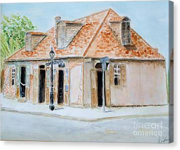 Lafitte's Blacksmith Shop Canvas Print by Katie Spicuzza