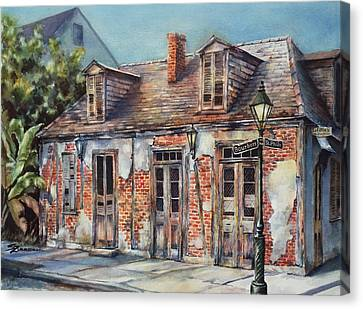 Lafitte's Blacksmith Shop Canvas Print by Sue Zimmermann