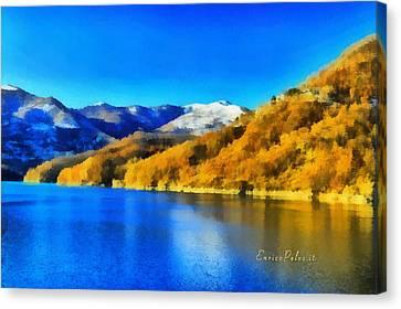 Lago Del Brugneto - Brugneto Lake Canvas Print