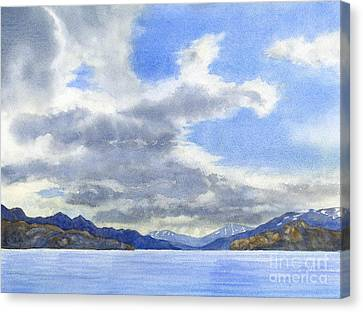 Lago Grey Patagonia Canvas Print by Sharon Freeman