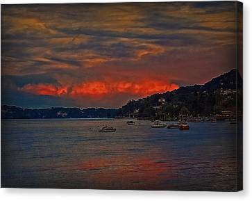Canvas Print featuring the photograph Lago Maggiore by Hanny Heim