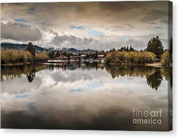 Lagoon At Cove East Canvas Print by Mitch Shindelbower