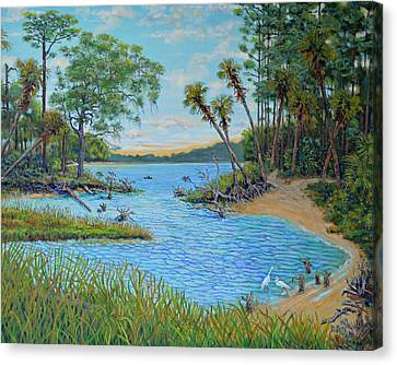 Lagoon At Hunting Island 2 Canvas Print