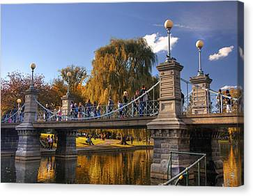 Lagoon Bridge In Autumn Canvas Print